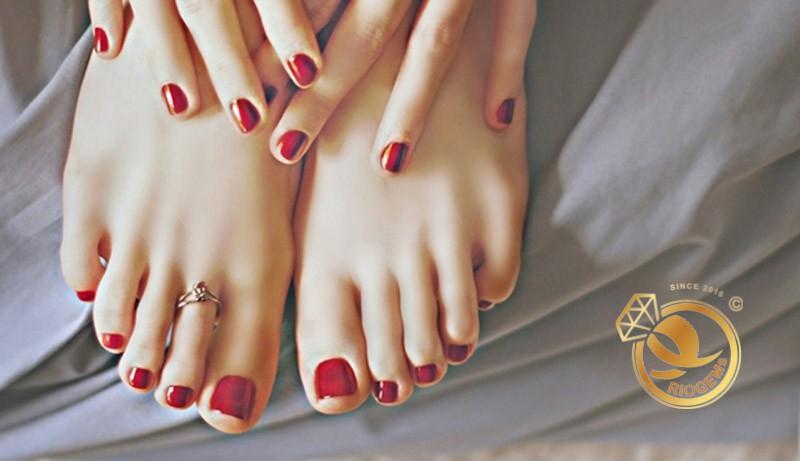 Nhẫn bạc hở đeo ngón chân phong thủy