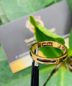 Nhẫn Lông Voi đơn 5 rãnh bo phong thủy nữ