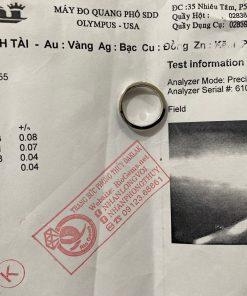 giấy chứng nhận nhẫn Lông Voi vàng trắng giá trị
