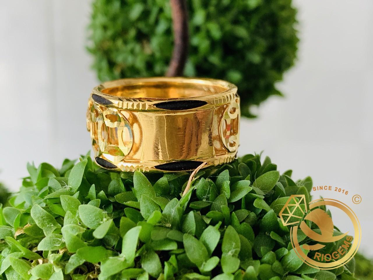 Nhẫn Mèo tranh Ngọc Cz xanh ngọc đẹp