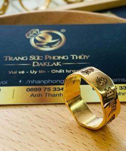 nhẫn Oh Mani Tahi khắc mang lại bình an