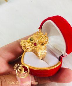 Nhẫn Rồng 3D - 7 chỉ vàng Tây phong thủy và hợp mệnh