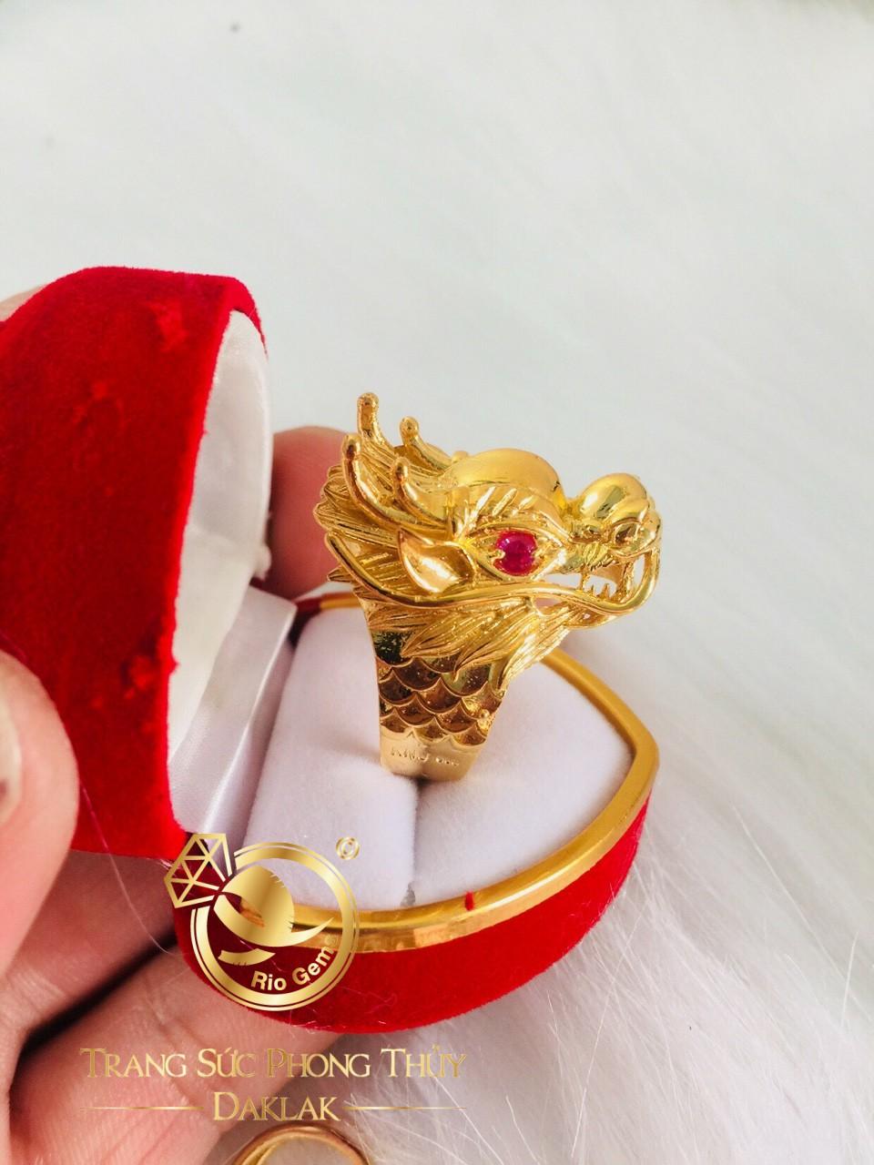 Nhẫn Rồng 3D - 7 chỉ vàng Tây phong thủy