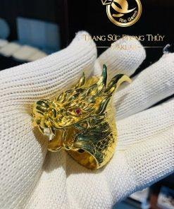 Nhẫn đầu Rồng PHÚ LÊ phong thủy bằng vàng