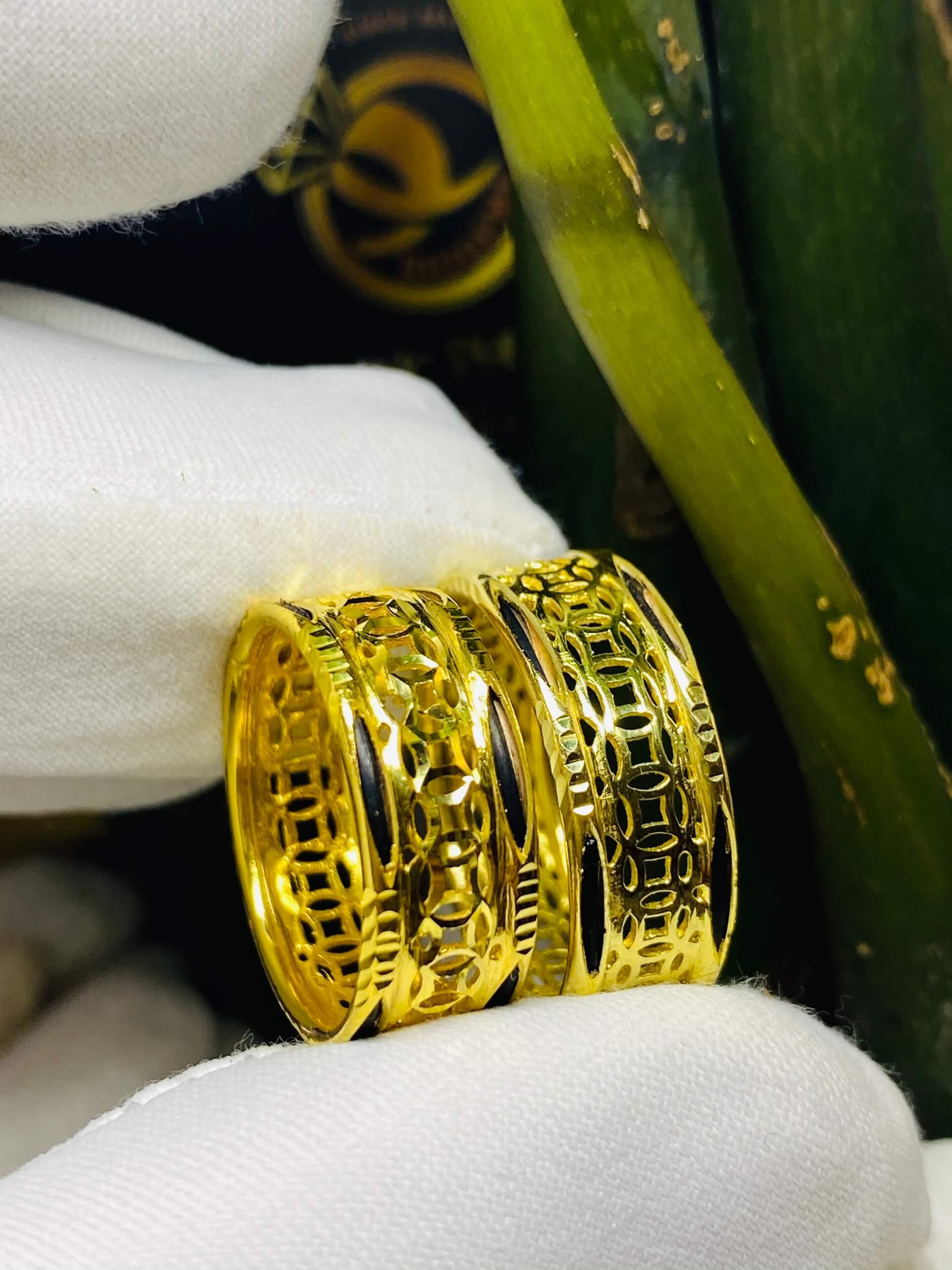 nhẫn Kim Tiền Múc Bén vàng gia công tại RIOGEMs