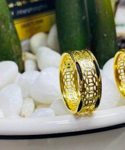 nhẫn Kim Tiền Múc Bén vàng thiết kế tại RIOGEMs