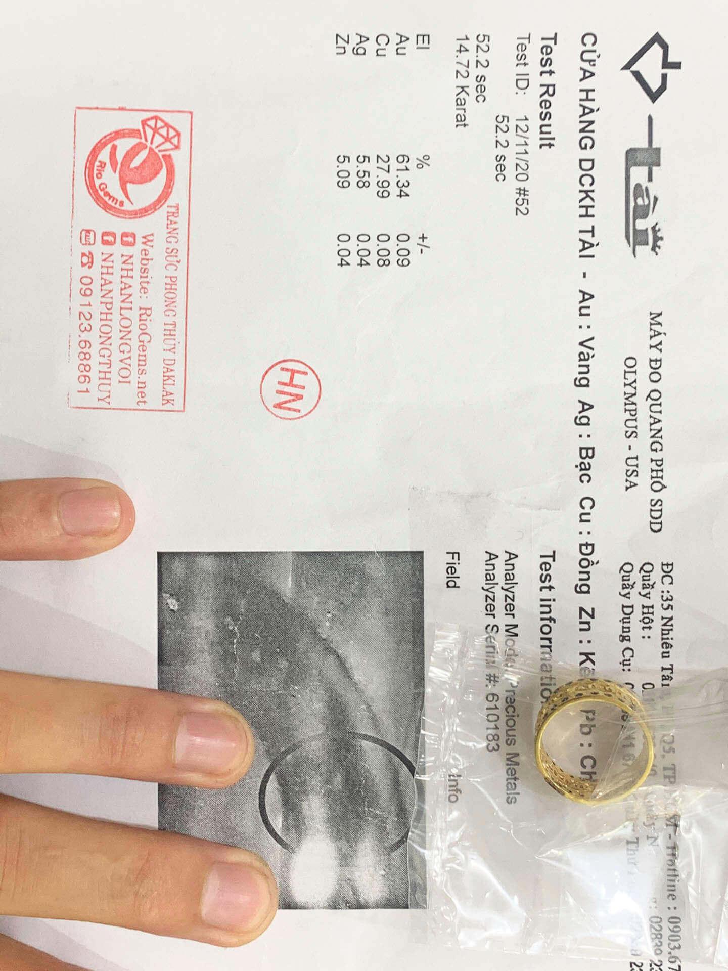 Nhẫn có giấy chứng nhận