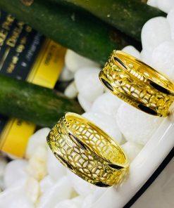 nhẫn Kim Tiền Múc Bén vàng thiết kế bởi RIOGEMs