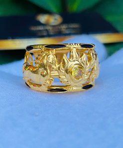 Nhẫn nam vàng 2 ngựa phong thủy