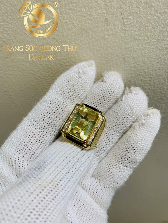 Nhẫn Nam vàng đính Citrine được thiết kế tại RIOGEMs