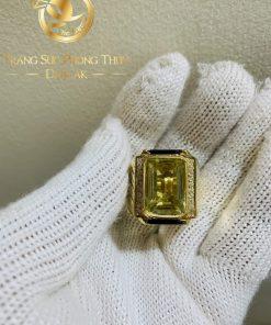 Nhẫn Nam vàng đính Citrine được gia công tại RIOGEMs