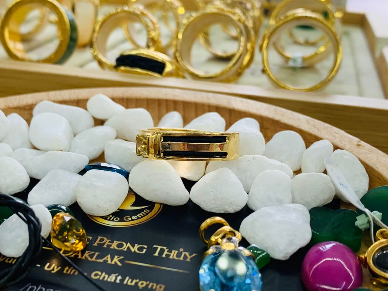 Nhẫn vàng nam mặt đá Cz