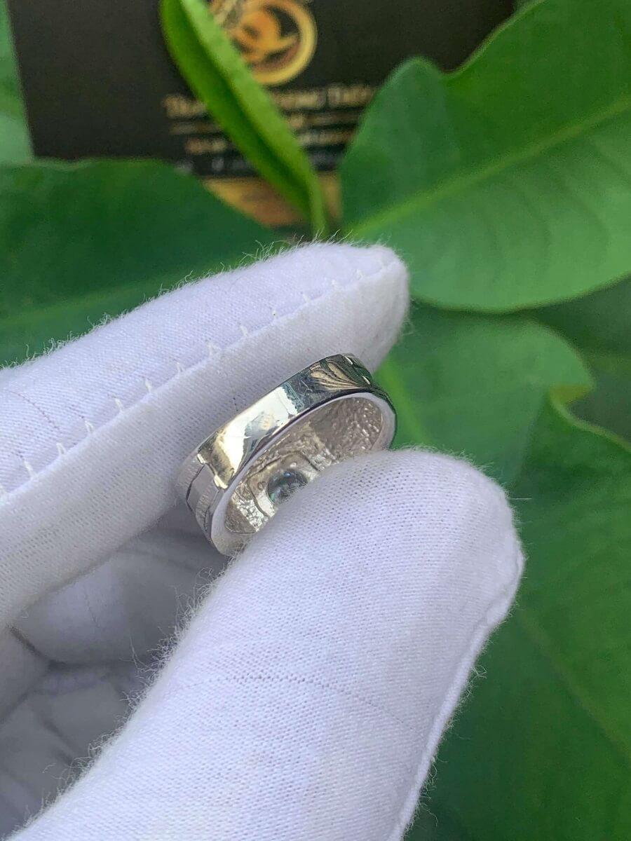 Nhẫn nam vàng Ý đính Kim Cương Moissanite giá trị