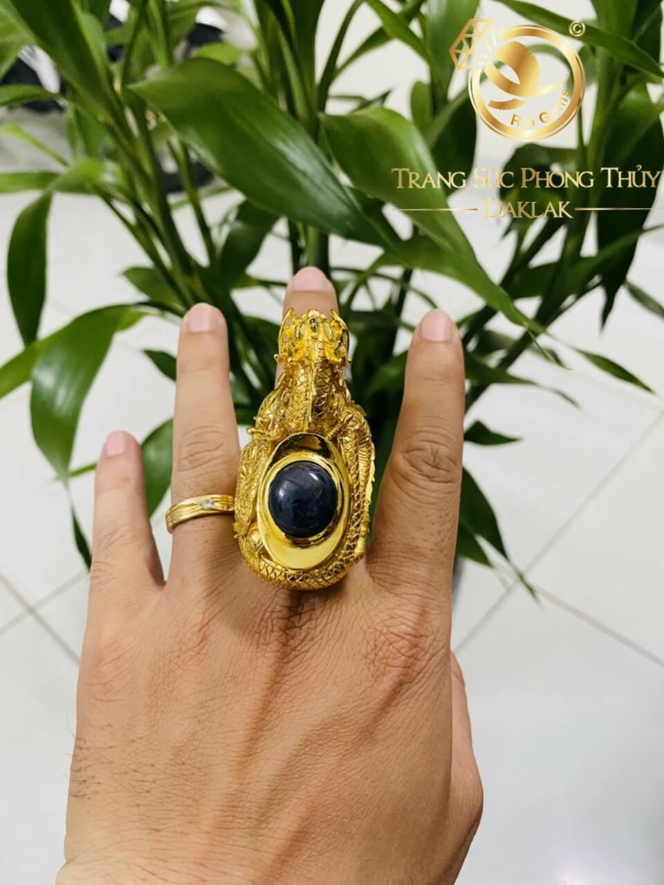Nhẫn nguyên con RỒNG vàng 3D đẹp mắt