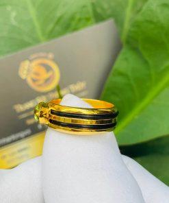 Nhẫn thỏi vàng mặt đá Peridot