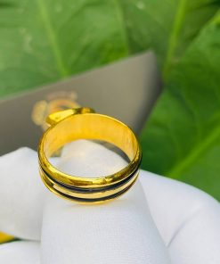 Nhẫn thỏi vàng mặt đá Peridot vàng phong thủy
