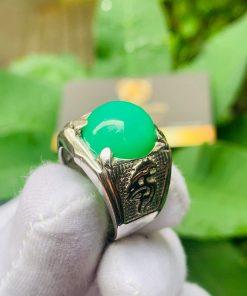 Nhẫn vàng Trắng hình Rồng đính ngọc