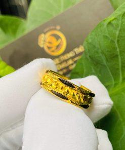 Nhẫn vàng nam nữ 2 đường Lông Voi giá trị