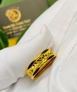 Nhẫn vàng nam nữ 2 đường Lông Voi giá trị cao