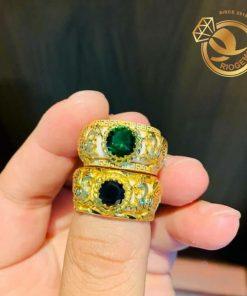 Nhẫn Bạch Ngọc tuổi Dậu 2 hoa văn được gia công đẹp mắt