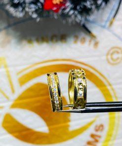 Cặp nhẫn lông voi đính đá sang trọng