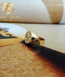 Nhẫn BITCOIN Vàng phong thủy