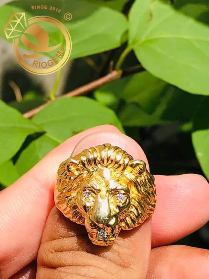 Nhẫn đầu Sư Tử đẹp