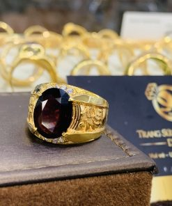 Nhẫn nam chữ LỘC vàng bảo hành tại RIOGEMs