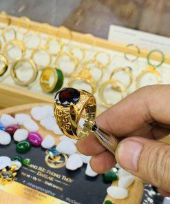 Nhẫn nam chữ LỘC vàng mang lại may mắn và tài lộc