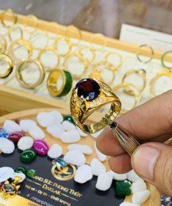 Nhẫn nam chữ LỘC vàng mang lại thành công