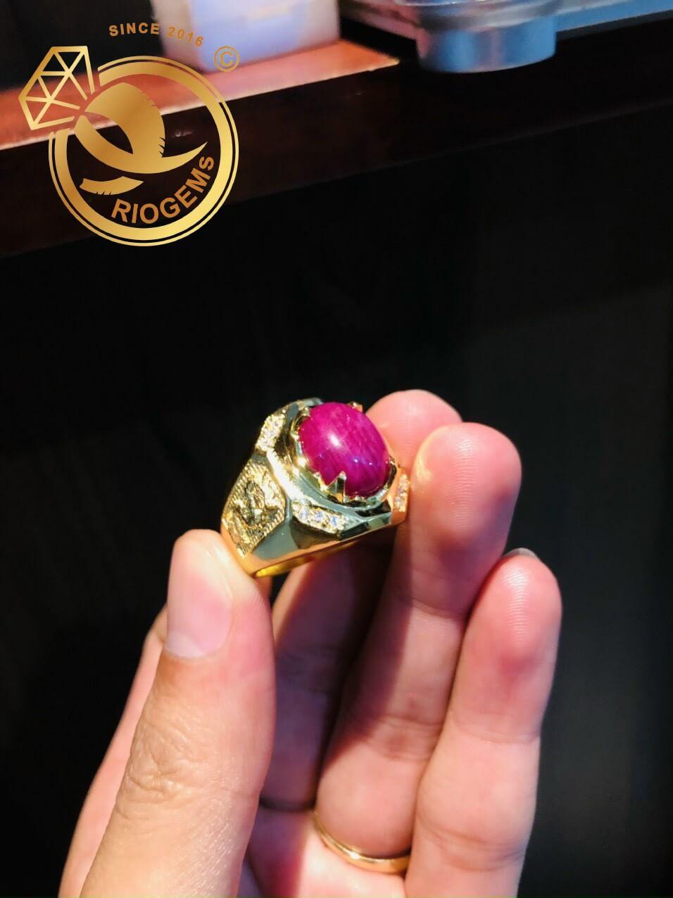 Nhẫn nam vàng hình Rồng phong thủy