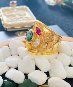 Nhẫn nam vàng THANOS đính đá