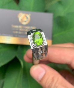 Nhẫn nam vàng Trắng phong thủy