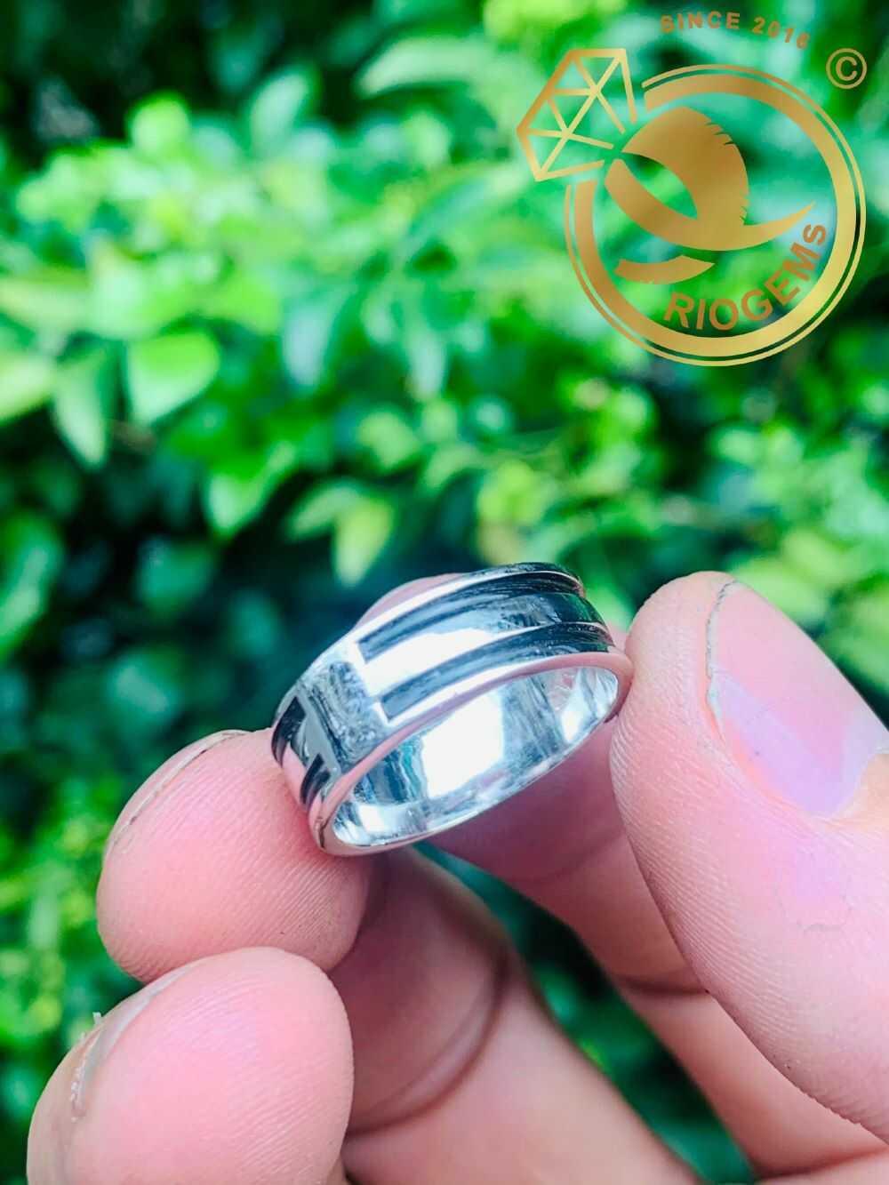 Nhẫn nữ vàng trắng luồng 2 Lông - Bảng 6li (lông FAKE) tinh xảo