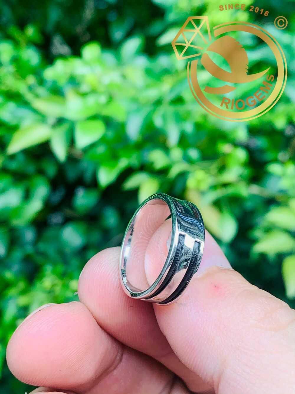 Nhẫn nữ vàng trắng luồng 2 Lông - Bảng 6li (lông FAKE) hiện đại
