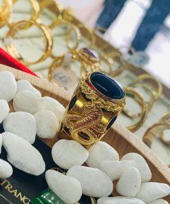 Nhẫn phong thủy 2 Rắn vàng