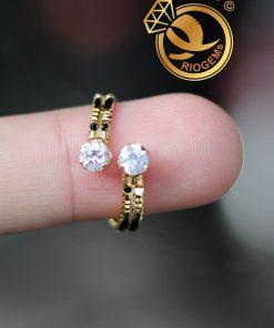 Nhẫn phong thủy nữ đính đá