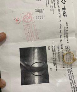 Nhẫn phong thủy nữ đính đá Cz trắng có giấy chứng nhận