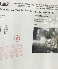 giấy chứng nhận Nhẫn phong thủy tuổi RẮN 2 hoa văn vàng