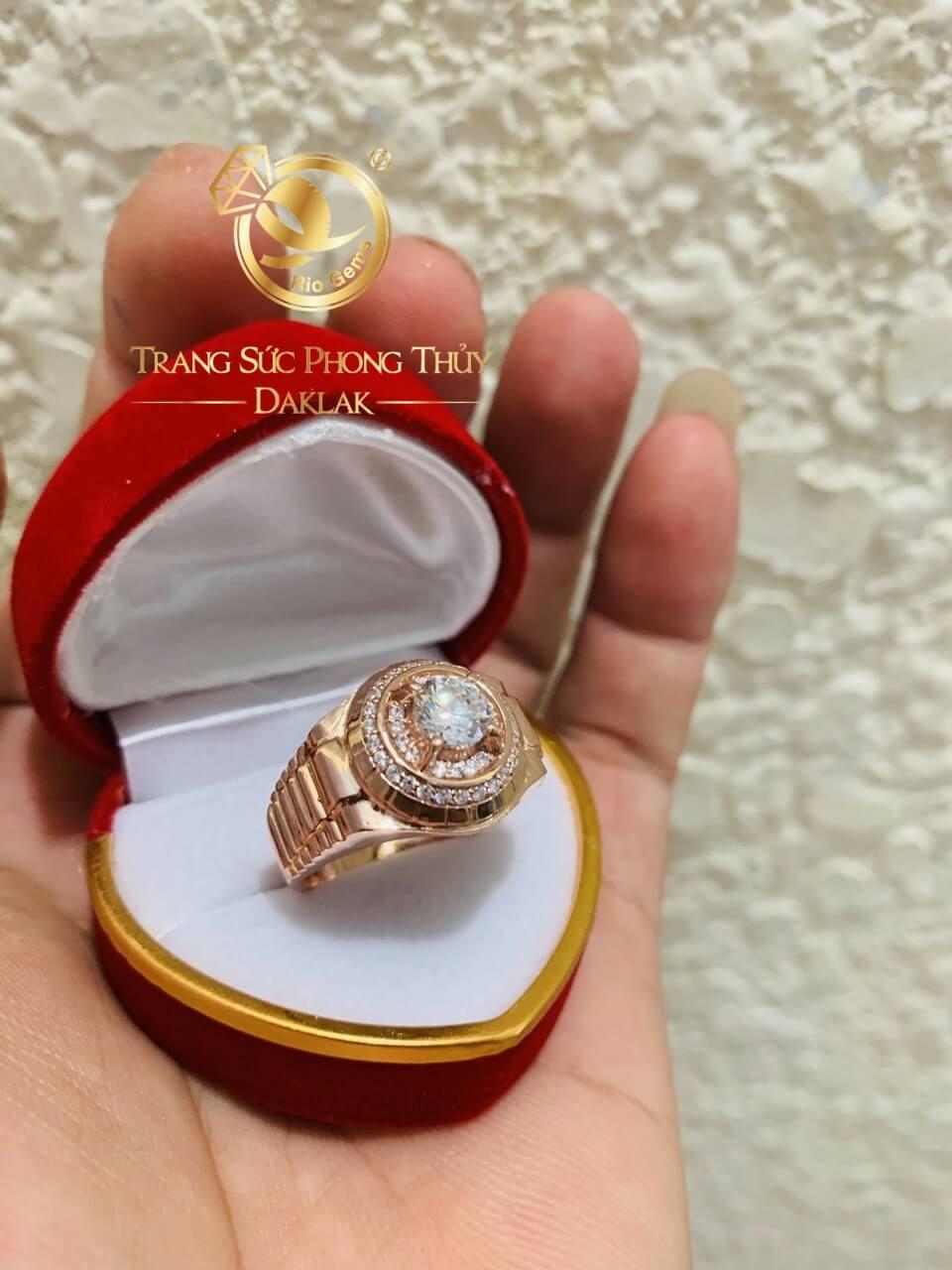 Nhẫn Rolex vàng Hồng giá tốt