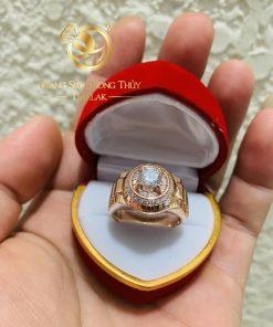 Nhẫn Rolex vàng Hồng phong thủy