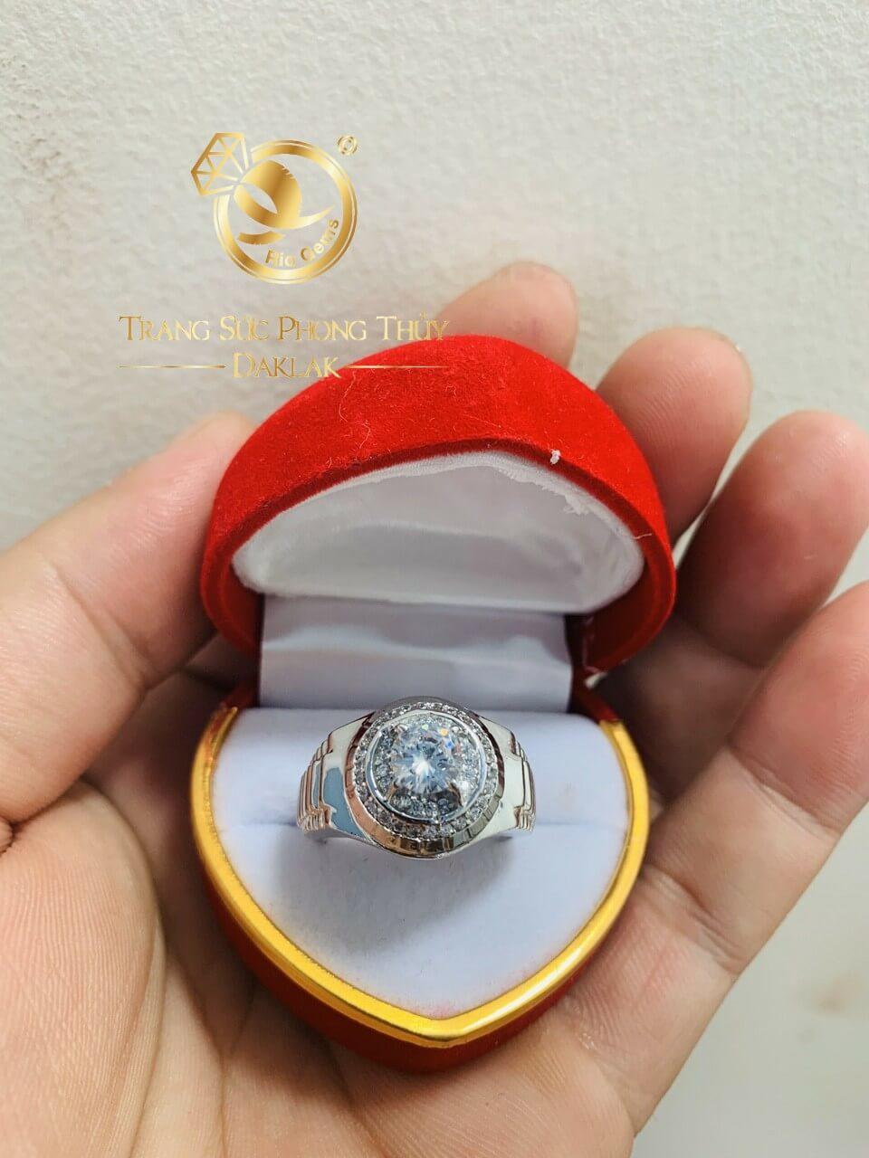 Nhẫn Rolex Vàng trắng - nhẫn nam vàng phong thủy