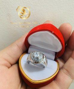 Nhẫn Rolex Vàng trắng - nhẫn nam vàng mạnh mẽ