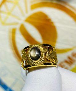 Nhẫn Rồng Phụng tranh ngọc Sapphire chất lượng