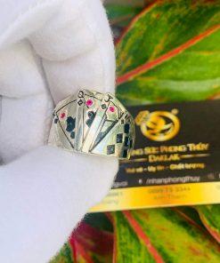 Nhẫn Thần bài NAM NỮ BẠC TA giá tốt