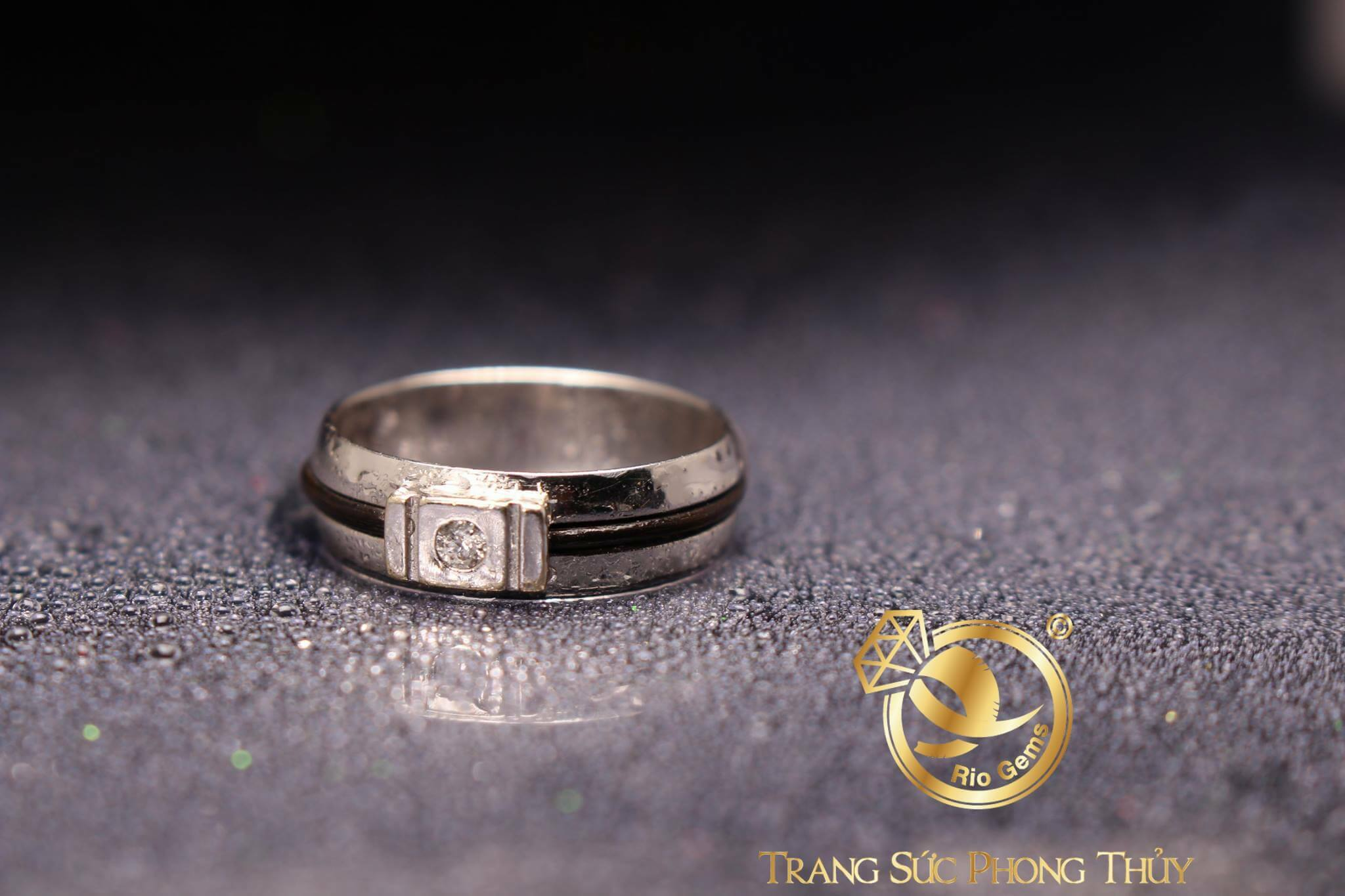 Nhẫn Thỏi Vàng Vàng Trắng Vàng Hồng đính đá Cz nổi bật