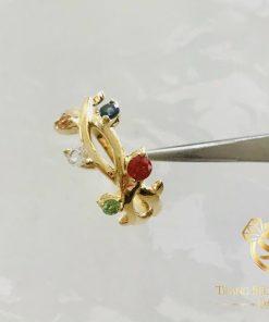 Nhẫn vàng ngũ sắc đính Tuocmalink đa sắc RIOGEMs tôn vinh nét đẹp của riêng bạn
