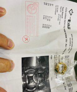 Nhẫn yên ngựa nam hoa văn vàng ngọc cẩm thạch Jadeite có giấy chứng nhận
