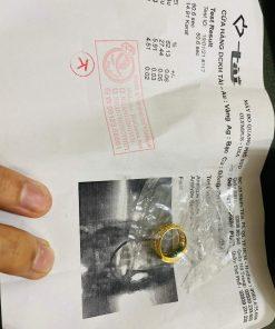 Nhẫn yên ngựa nam vàng 18k ngọc Cẩm Thạch Jadeite có giấy chứng nhận