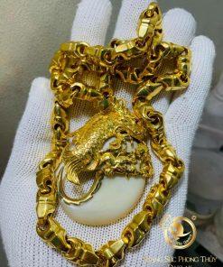 Bộ dây chuyền vàng mắt xích - móng cọp lên cá hóa rồng đẹp
